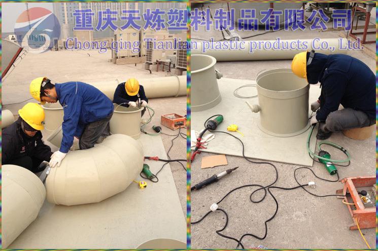 重庆天炼亚博yabo登入设备通风管道安装现场