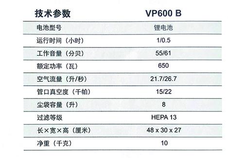 力奇VP600 B 宁静式吸尘器 电池板