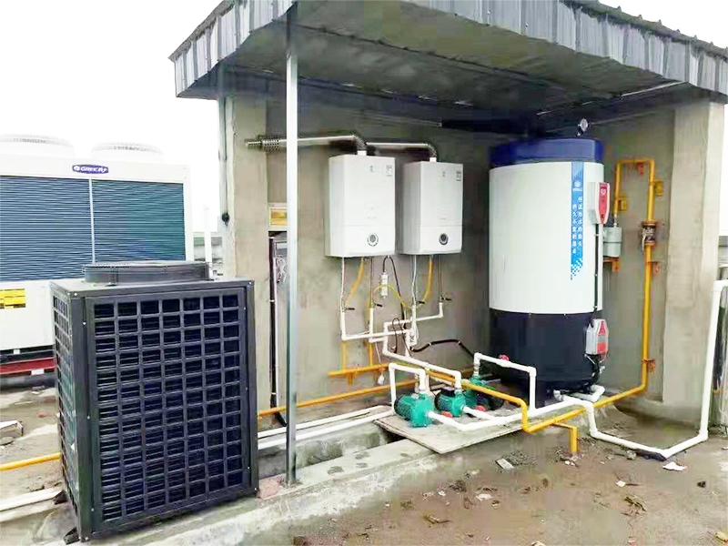 燃气热水器加空气能热水器双系统加承压水箱