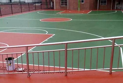 芜湖第七中学篮球场地坪施工