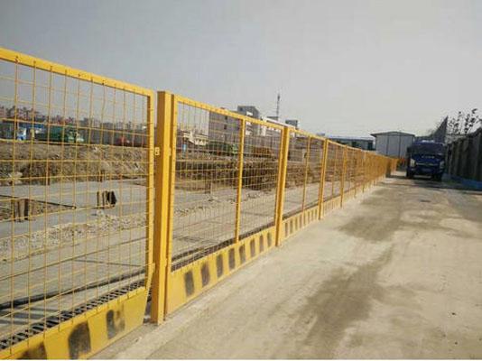 基坑临边防护栏的安装