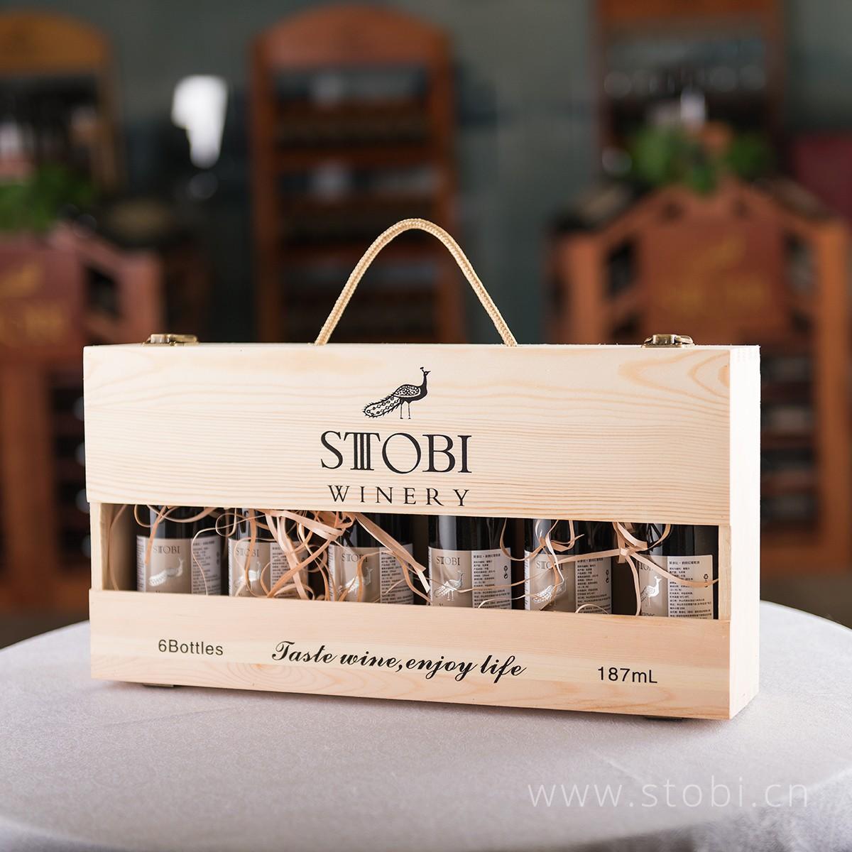 品牌6只装小木箱