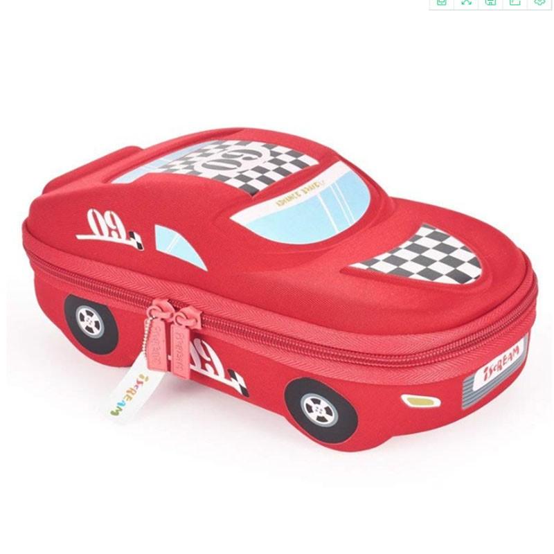 EVA卡通儿童笔盒跑车文具盒大容量多功能多层儿