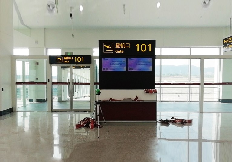 昌北机场T1航站楼标识