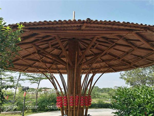 常州异形竹装饰