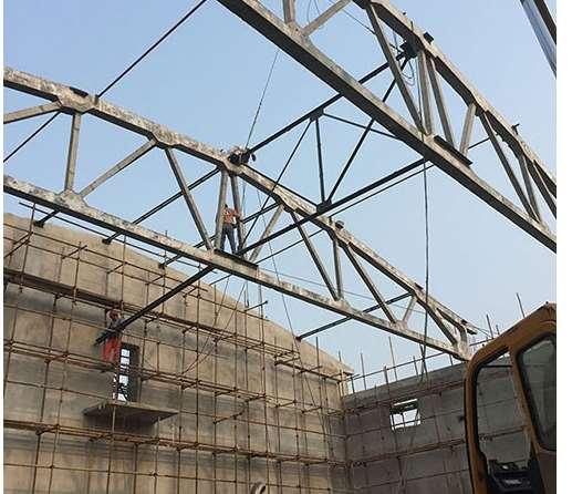 折线形屋架施工的一些节点要求