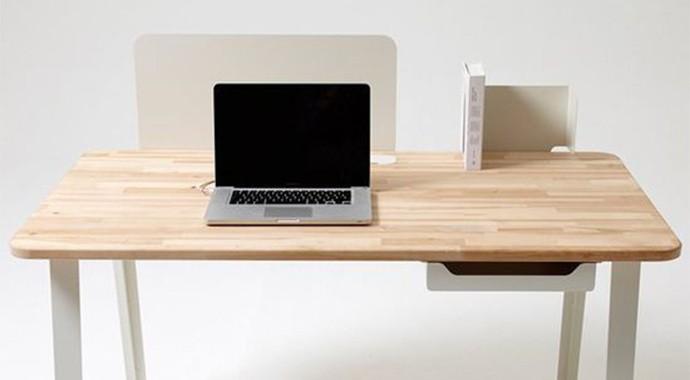 原木电脑办公桌