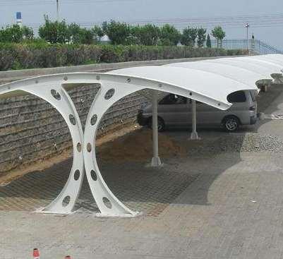 建筑的膜结构停车棚设施领域