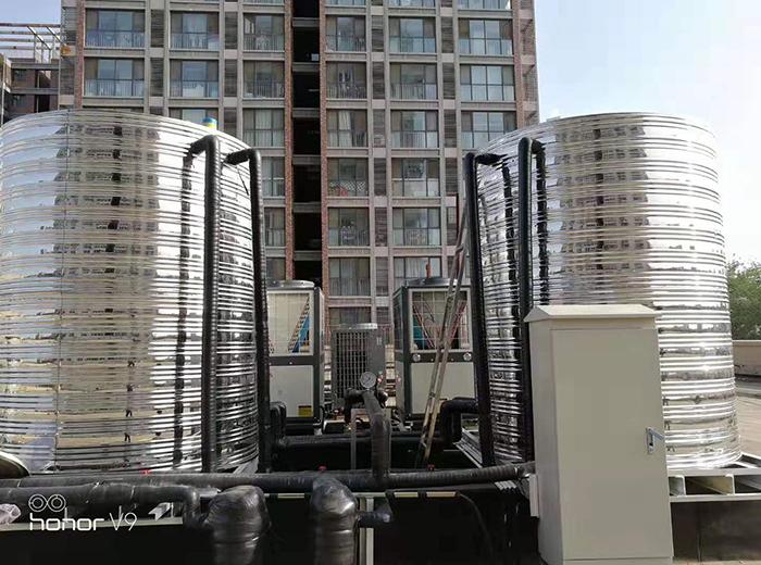 北京筑梦居大兴公寓空气能热水安装工程