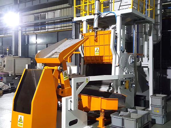 在温度高的环境下应对钢结构抛丸机进行清理