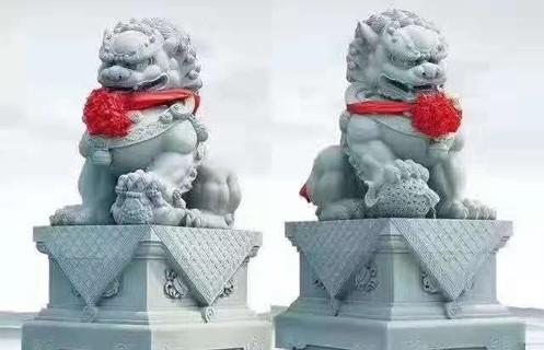 四川青石石雕狮子