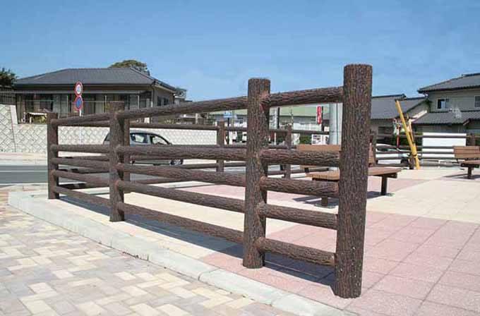 仿木石栏杆