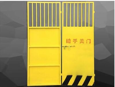 看看施工电梯防护门在建筑施工工地的作用