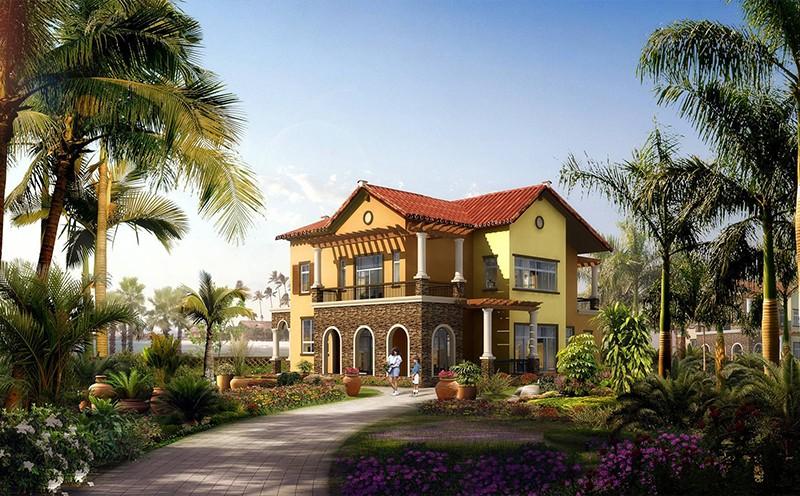 轻钢别墅可以轻松灵活实现各种复杂的屋面造型