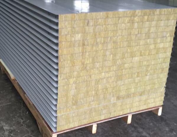 Roof rock wool sandwich panel