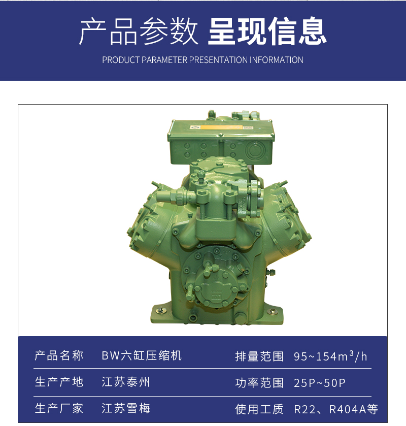 半封闭活塞式压缩机2500-BW-95