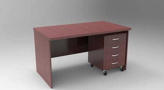 红实木办公桌