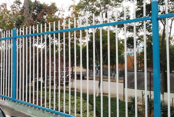 铁艺双横栏围栏