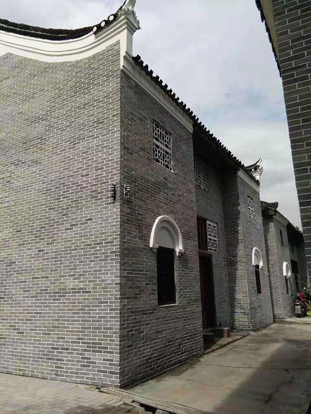 六面光青砖片外墙效果图