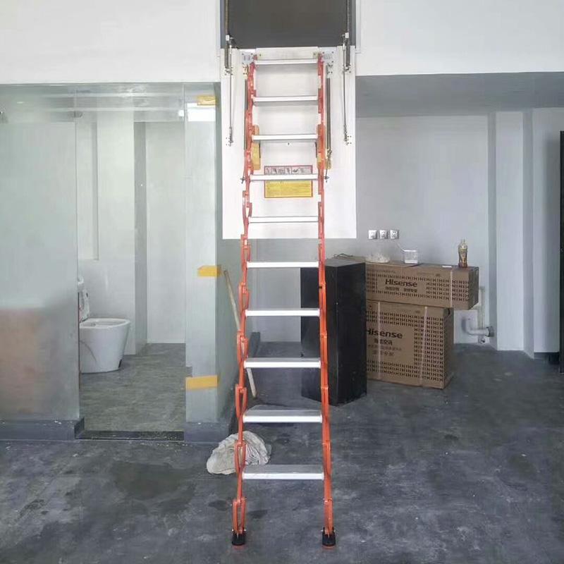 侧装伸缩阁楼楼梯