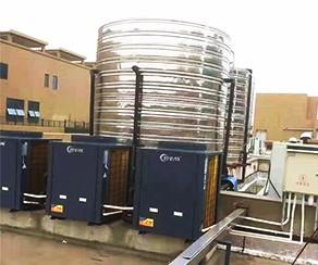 5匹空气能热水加相应保温水箱