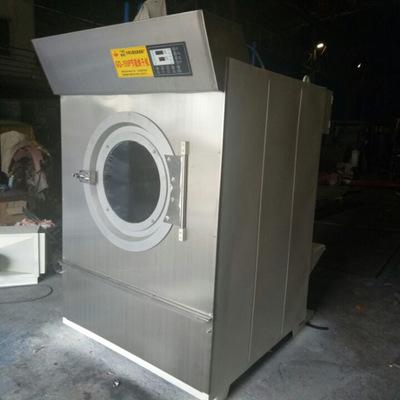 厂家直销洗涤机械全套衣服设备烘干机 50kg滚筒半自动单桶烘干机