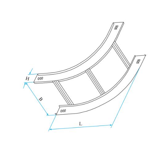 梯级式圆弧型垂直凹弯通