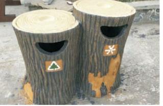 我们已经看厌了的水泥仿木垃圾桶吗