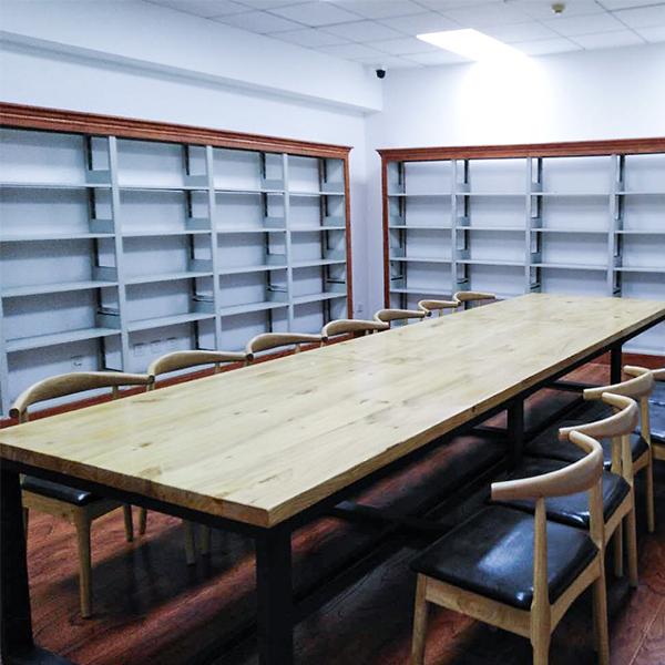 钢木结构书架