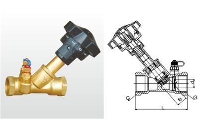 埃美柯平衡阀-SP15F-25T 黄铜双位调节平衡阀