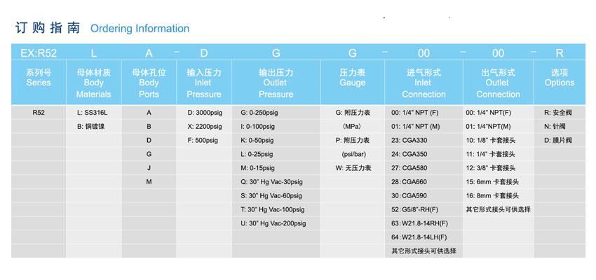 R52系列单级小流量减压器的安装方法