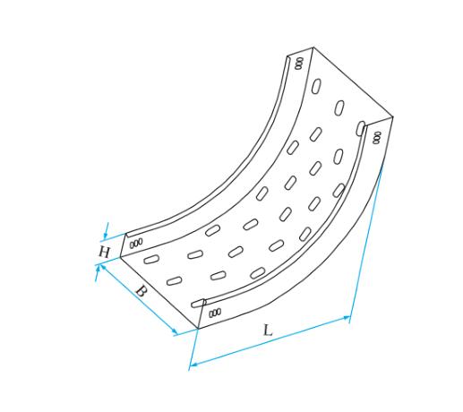 托盘式圆弧型垂直凹弯通