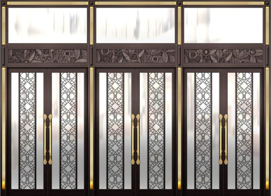 豪华别墅铜门厂家告诉你选择玻璃铜门的好处