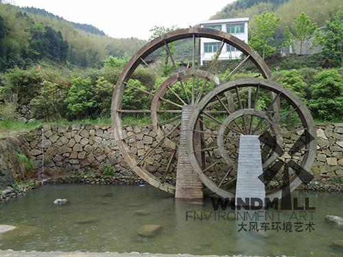 老式景观水车制作