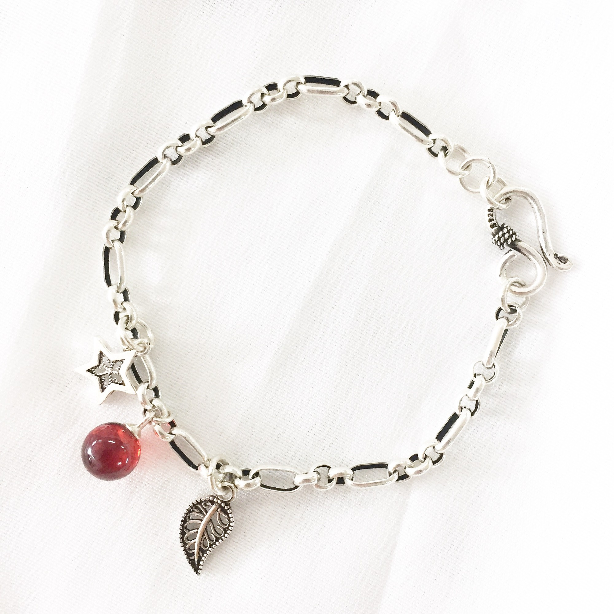 简约复古设计感玛瑙潮流网红ins学生情侣水晶手链