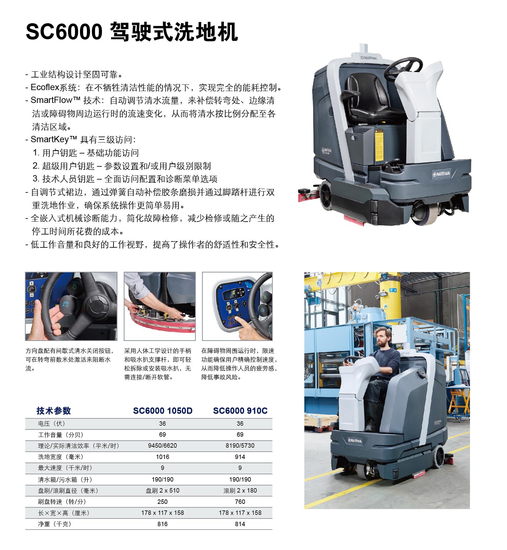 力奇SC6000 驾驶式洗地机