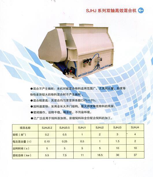 SJHJ系列双轴高效饲料混合机