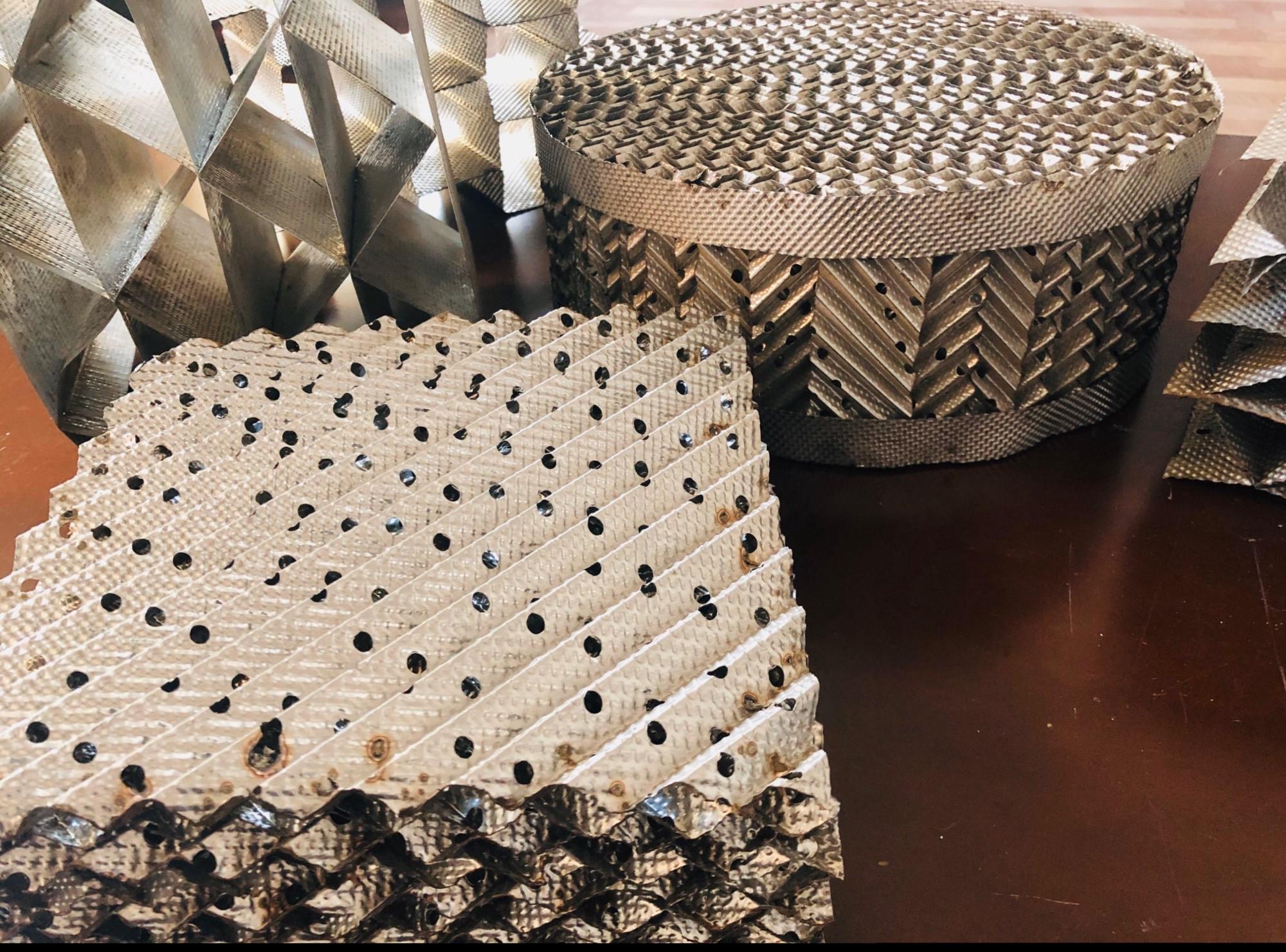 不锈钢孔板波纹填料-金属波纹板填料
