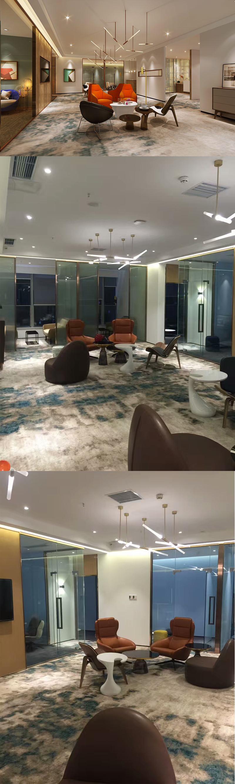 百合网办公室办公地毯铺设