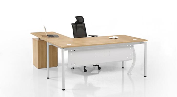 实木L型办公桌