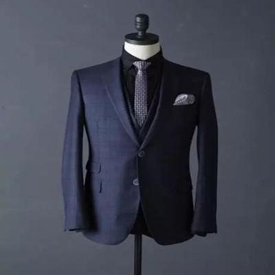 宝石蓝休闲两件套西服