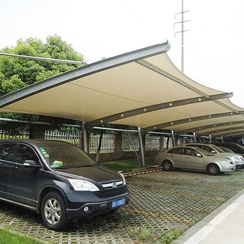 某塑业有限公司定制膜结构车棚