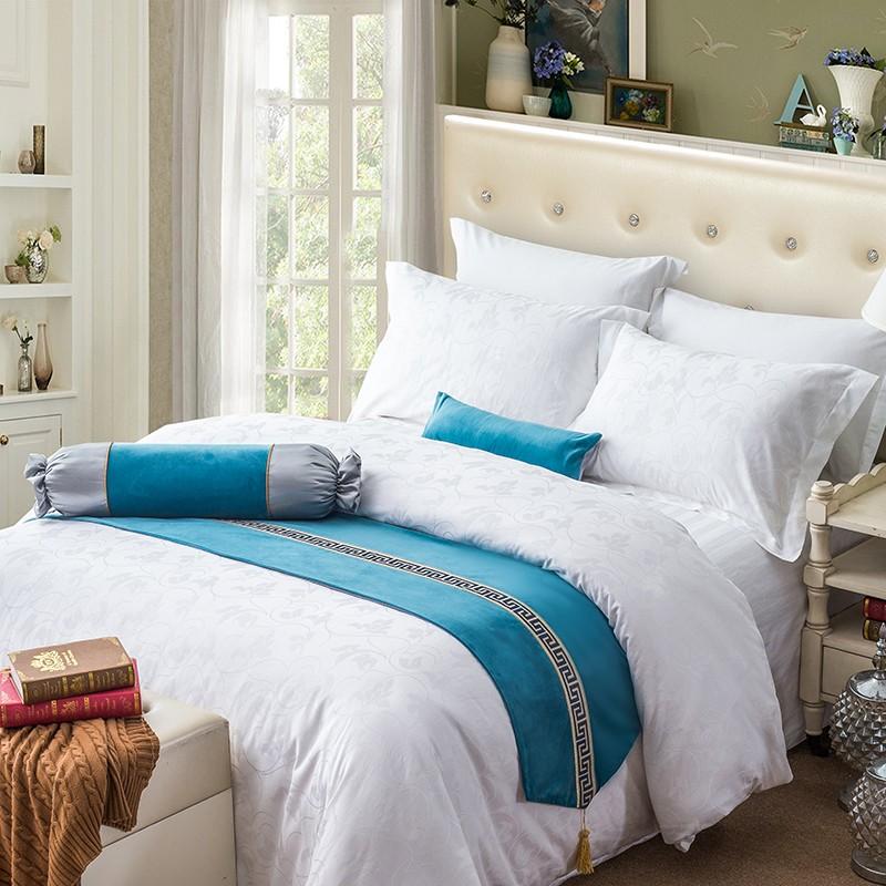 民宿客栈床搭巾