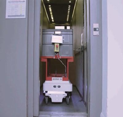 移动机器人通过无线IO实现与电梯、安全门之间通讯