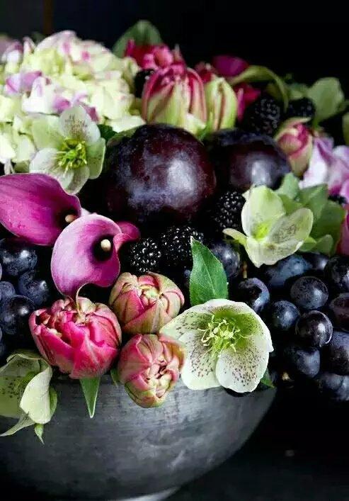 茶几餐桌摆设蔬果花束