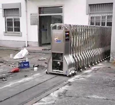 电动伸缩门怎样安装