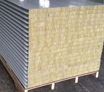 Background technology of metal faced rock wool sandwich panel