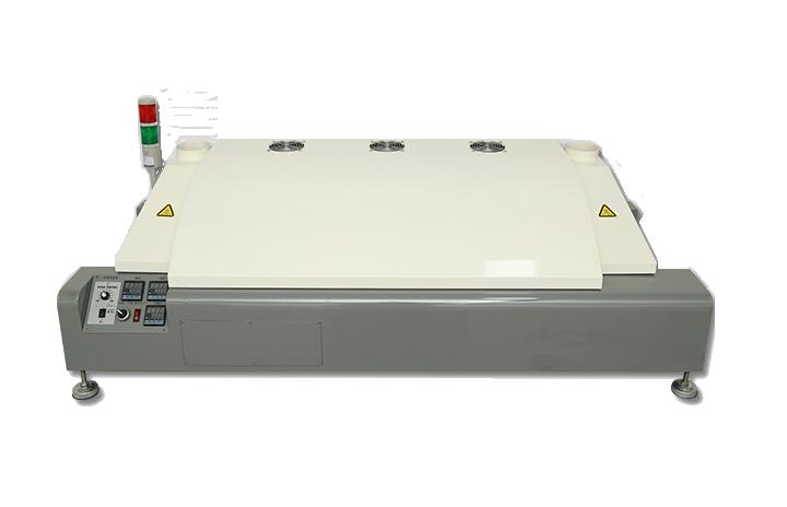Three-temperature zone reflow oven