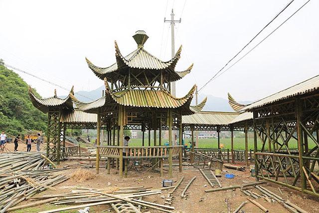 安徽景区竹长廊