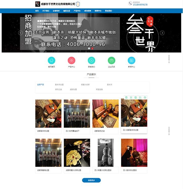 成都叁千世界文化传媒有限公司网站建设